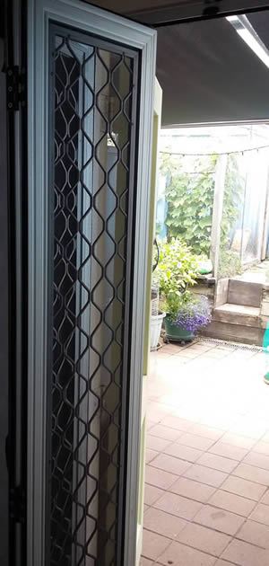 Bi-fold Security Door Open
