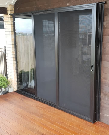 Double Stacking Stainless Steel mesh Security Doors