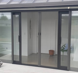 Double Pleated Venette Insect Screen Doors