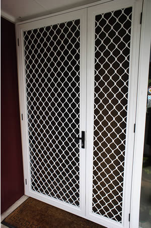 Double Opening Security Doors Standard Grille