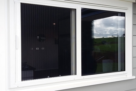 Pleated Screen fitted to window