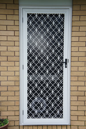 Security Door with fancy Grille