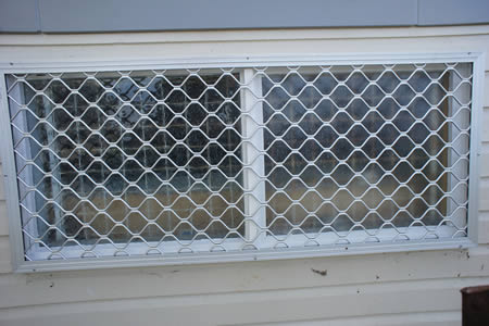 Security Screen face fitted to window frame