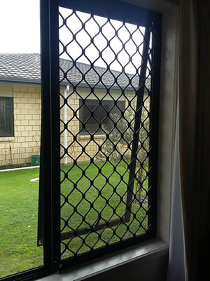 Security & Insect Screen secured using push bolts