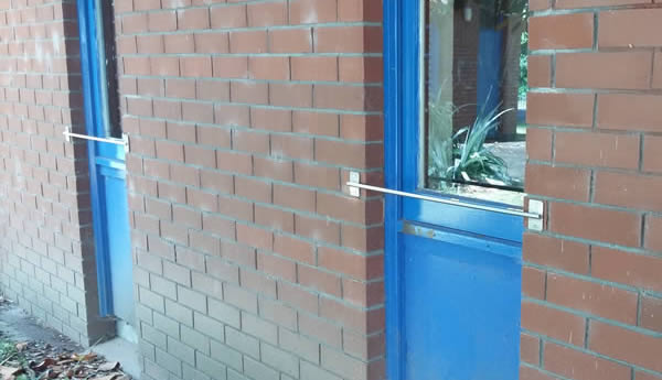 Stainless Steel Restrictors on School Windows