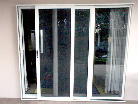 Stainless Steel mesh double stacking slider security  door