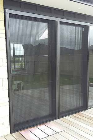 Venette door insect screen mounted with angles
