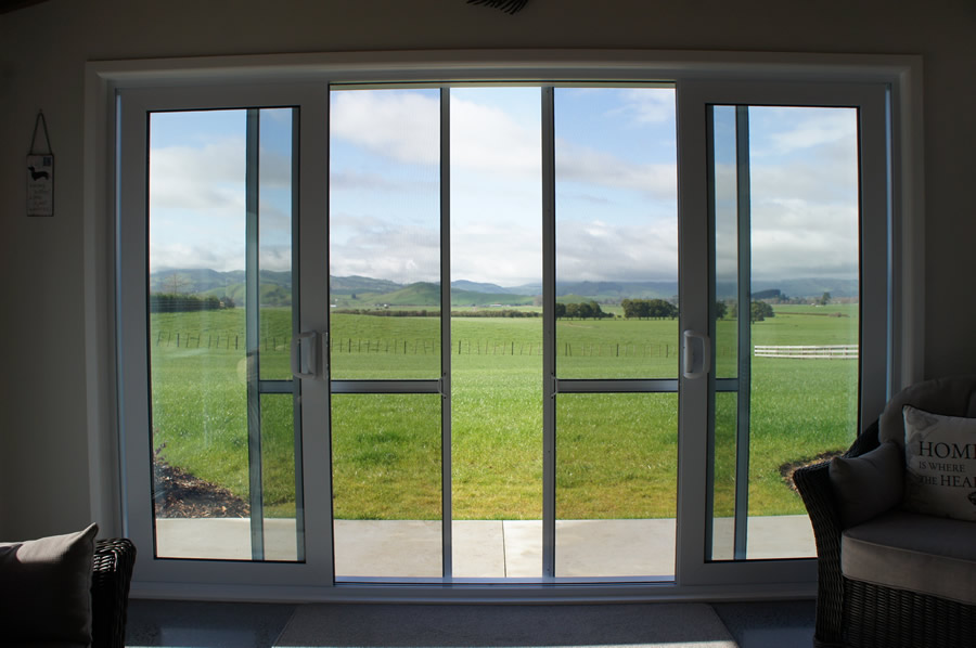 Genial Double Sliding Insect Screen Doors